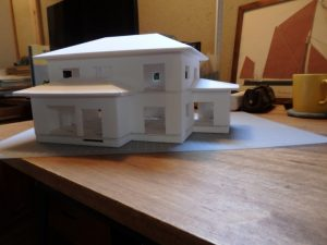 最近計画した建物の模型